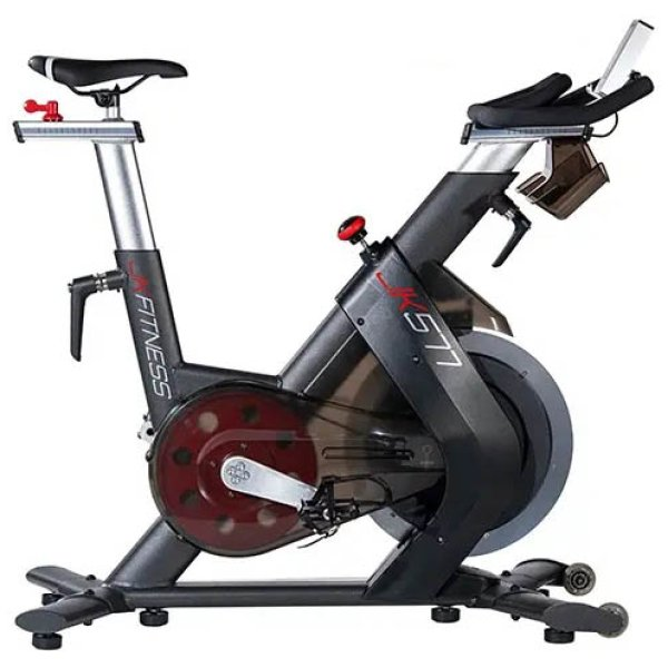 JK FITNESS - Spin bike elettromagnetica volano da 24 kg JK 577