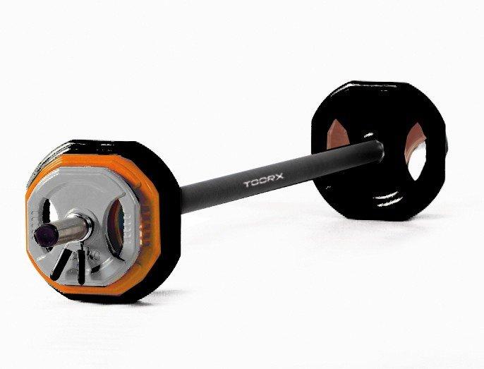 TOORX - Body pump set con kit pesi da 20 Kg BPS