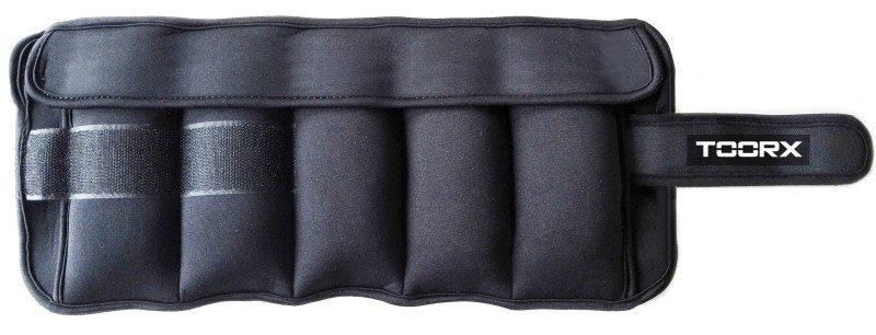 TOORX - Coppia di polsiere/cavigliere appesantite con pesi estraibili AHF-093
