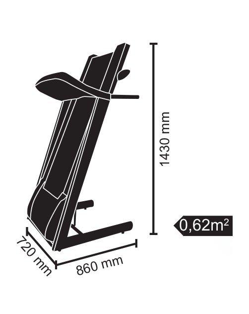 EVERFIT - Tapis roulant motorizzato TFK 300 EVO