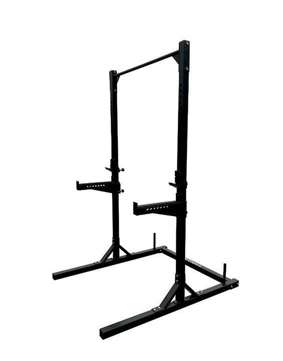 JK FITNESS - Squat rack Professionale con barra di trazione e 2 porta pesi JK 6066