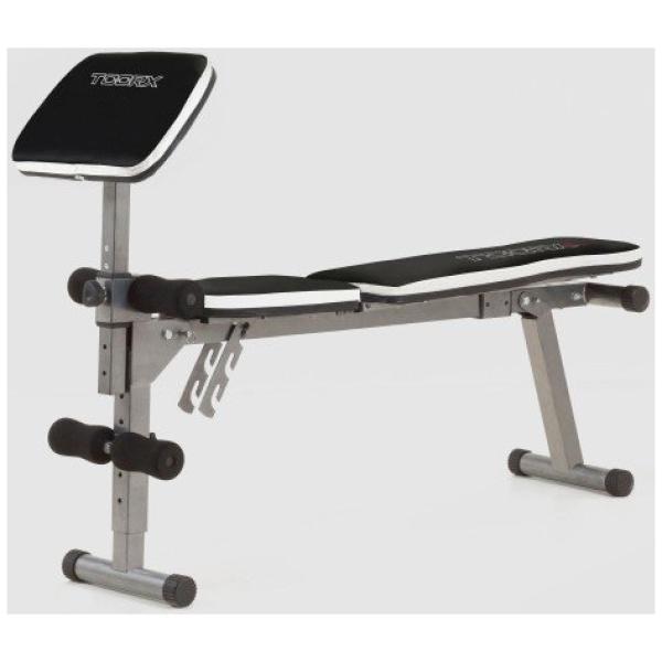 TOORX - Panca piana / inclinabile multiposizione richiudibile con arm curl WBX 30