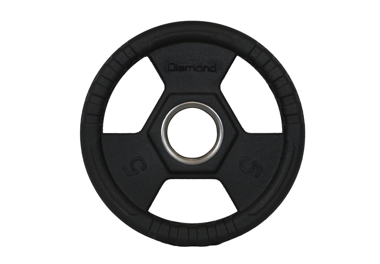 DIAMOND - Disco in ghisa gommata Tri-Grip trigrip olimpionici Ø 50 mm
