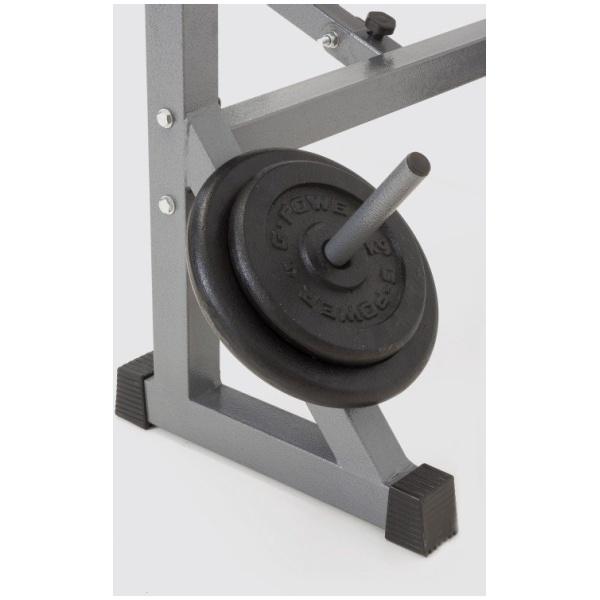 TOORX - Panca richiudibile con leg extension - porta bilanciere - porta dischi WBX 60