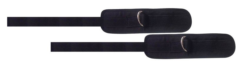 Coppia polsiere per trazioni con anello e chiusura velcro