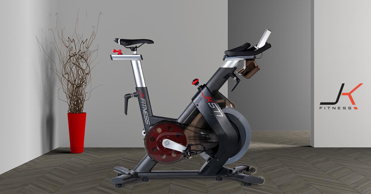 JK FITNESS - Spin bike elettromagnetica volano da 24 kg JK 577-1