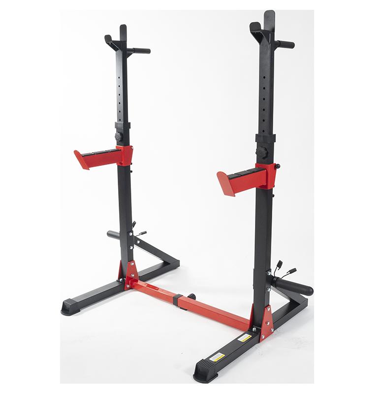 TEKKFIT - Squat rack multifunzionale, regolabile in altezza e larghezza