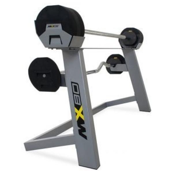 IRON MASTER - Set peso regolabile fino a 36,4 kg (incluso rack-aste-pesi) MX80