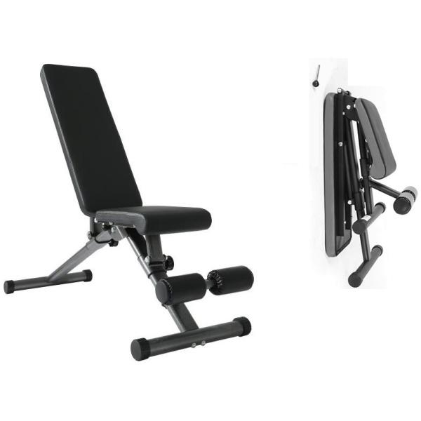 TEKKFIT - Panca inclinata salvaspazio richiudibile seduta e schienale regolabili BENCH JR